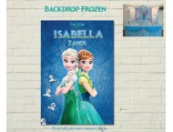FROZEN FEVER Painel Impresso Vertical