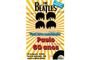 The Beatles Hard Day's Night Convite Digital