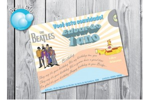 The Beatles Yellow Submarine Baby Convite Digital