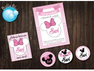 Minnie Festa LUXO ROSA Kit digital