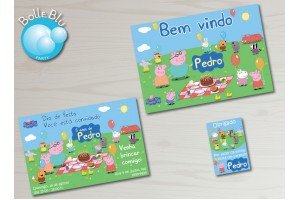 Peppa Pig Piquenique Kit Festa Digital