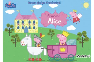 Peppa Pig Festa Princesa Placa Painel Digital Festa