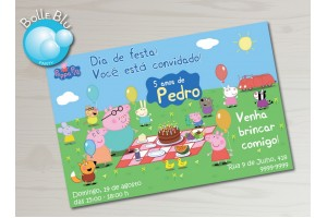 Peppa Pig Piquenique Convite Digital