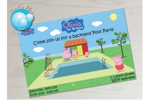 Peppa Pig Piscina Convite Digital