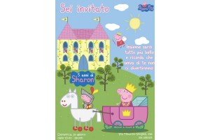 Peppa Pig Princesa Convite Digital